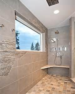 Tiled Bathrooms Ideas Showers Rustic But Modern Tile Walk In Shower Contemporary