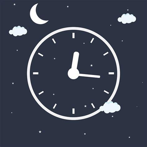 bed clock free vector graphic clock night time sleep alarm