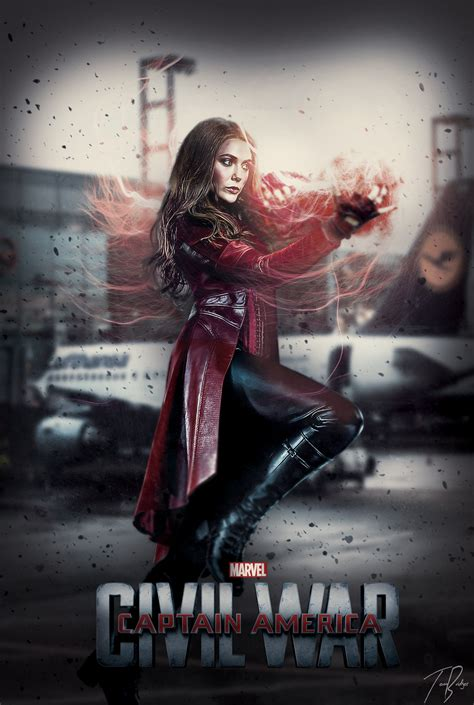 scarlet witch captain america civil war captain america civil war poster scarlet witch 2 by hz