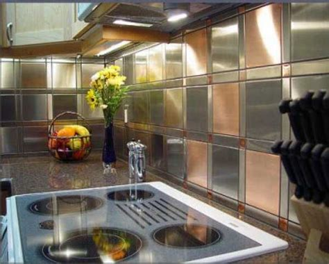 Aluminum Backsplash Kitchen Tin Kitchen Backsplash Ideas Memes