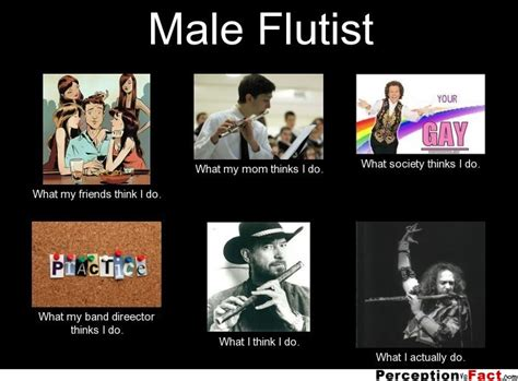 Flute Player Meme - male flutist what people think i do what i really do