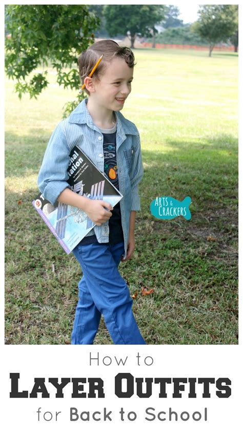 kid fashion how to layer outfits for back to school