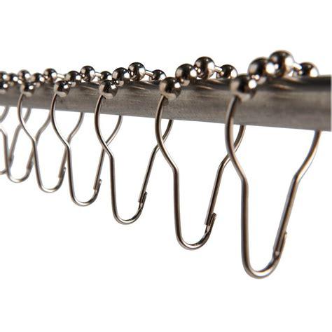 heavy duty curtain rings new silver heavy duty set of 12 shower curtain rings hooks
