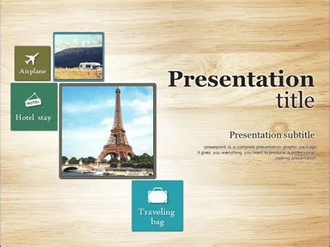Travel Animated Powerpoint Template Youtube Microsoft Powerpoint Templates Tourism