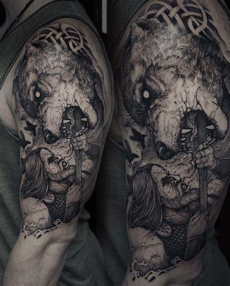 fenrir tattoo the 25 best ideas about fenrir on