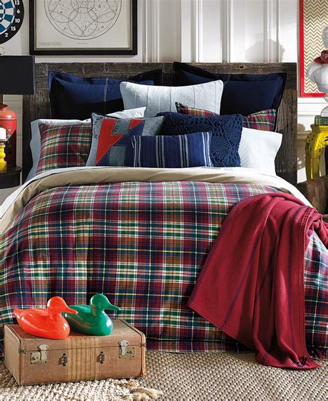 macy s kids bedding tommy hilfiger middlebury plaid twin comforter set