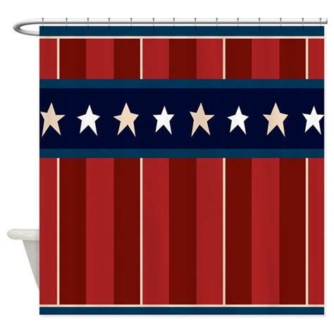 americana shower curtains patriotic americana stars stripes shower curtain by