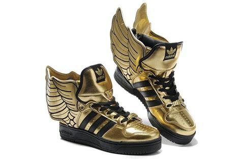jeremyscott shoes adidas hightops gold wings musthave amazing glitter shine sparkle