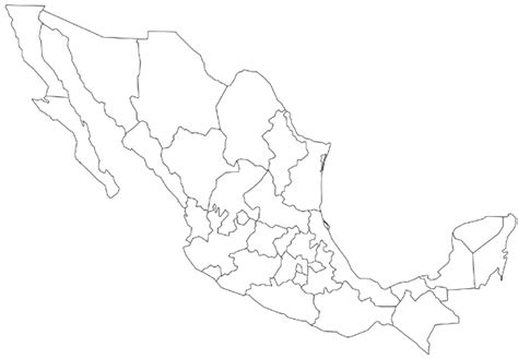 outline map of usa and mexico geography mexico outline maps