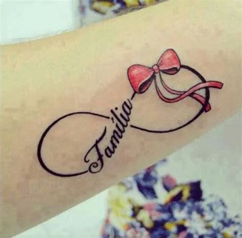 imagenes de tatuajes de un infinito infinito lazo frase familia tatuajes para mujeres