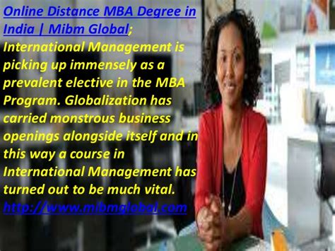 Distance Mba From Foreign In India by Distance Mba Degree In India