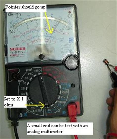 how to test a inductor with multimeter testing coil