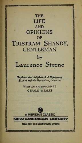 tristram shandy everymans library the life and opinions of tristram shandy gentleman 1988 edition open library
