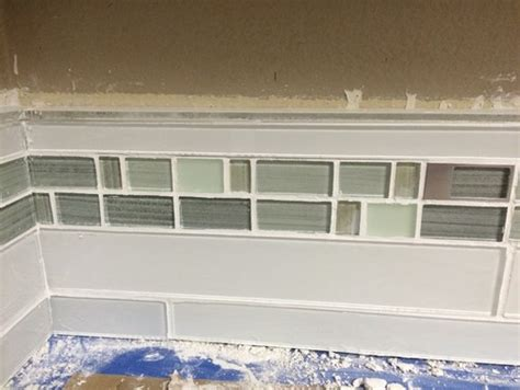 How To Install A Glass Tile Backsplash In The Kitchen by Kitchen Backsplash Glass Tile Border
