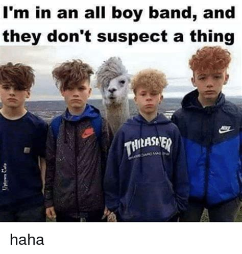 Boy Band Meme - i m in an all boy band and they don t suspect a thing haha