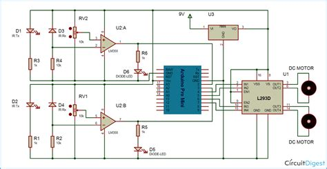 Line Follower Sensor Circuit Diagram arduino line follower robot code and circuit diagram