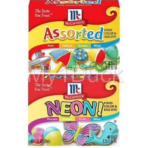 neon food coloring mccormick assorted colors neon food color coloring egg