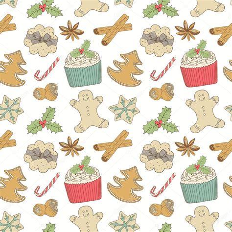 pattern illustrator food christmas food pattern stock vector 169 texturis 34453971