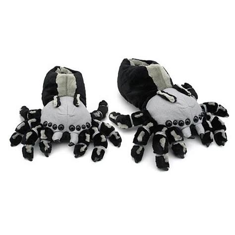 scary spider slippers spider plush slippers vault monsters plush at