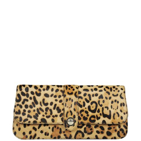 Up Of Designer Animal Print Clutch by Ted Baker Olosa Leopard Print Pony Clutch Bag Light Brown