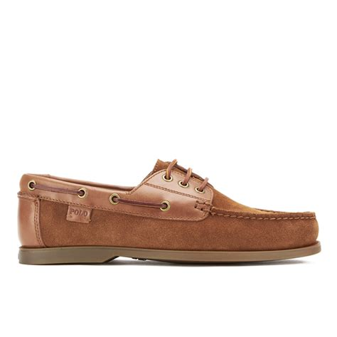 polo bienne boat shoe tan polo ralph lauren men s bienne ii suede boat shoes new
