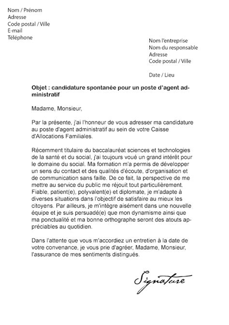 Exemple Lettre De Démission Cdd Fonction Publique Lettre De Motivation Caf Administratif Mod 232 Le De Lettre