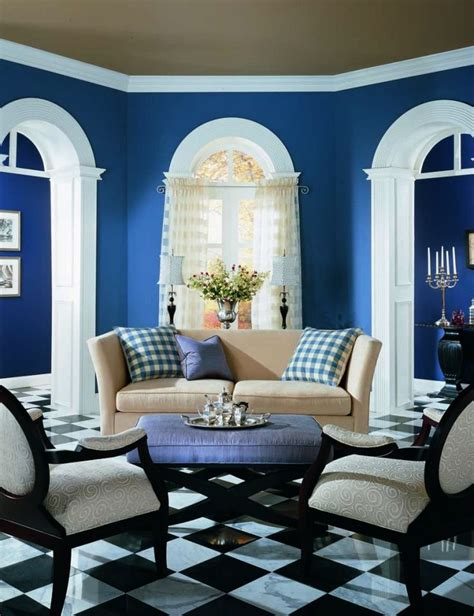 benjamin color quot blueberry quot wow with the white trim and black tiled floor this room