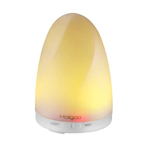 H05 Essential Aroma Humidifier 7 Colors Mood Light Led L 400ml holigoo essential diffuser 100ml ultrasonic cool mist humidifier