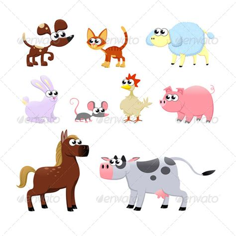Animal Character 01 farm animals graphicriver