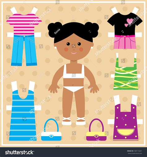 paper doll outfits stock photo image 36574600 paper doll with clothes set vector 108113201 shutterstock