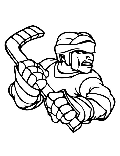 coloring pages of hockey players hockey player coloring pages coloring home