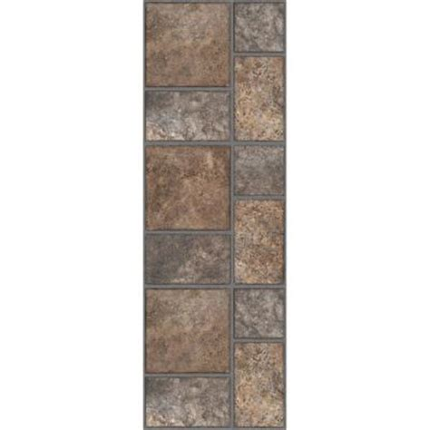 trafficmaster allure 12 in x 36 in yukon brown resilient vinyl tile flooring 24 sq ft