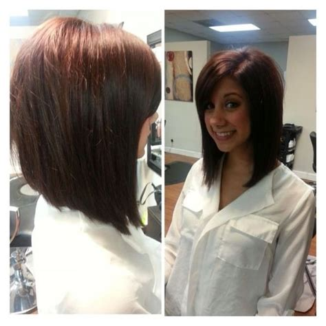 shoulder length angled bob 20 cute lively hairstyles for medium length hair