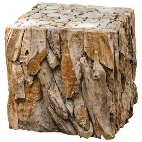teak wood end table sagamore rustic lodge reclaimed teak wood cube end table