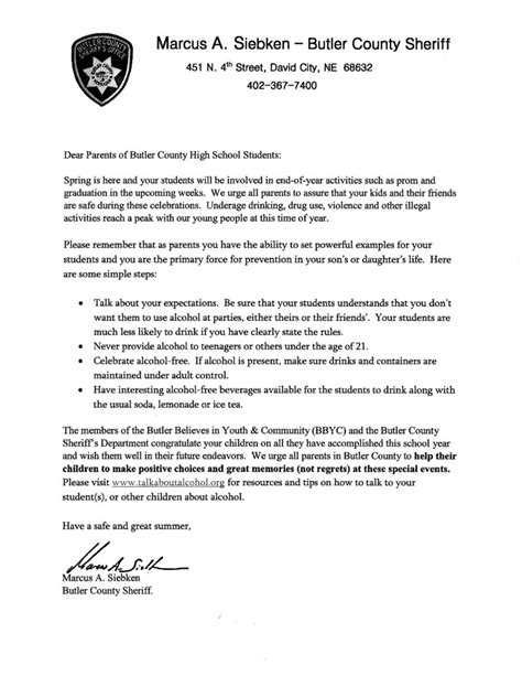 Parent Letter Graduation Letter To Aquinas Catholic High School Parents Aquinas Catholic Schools