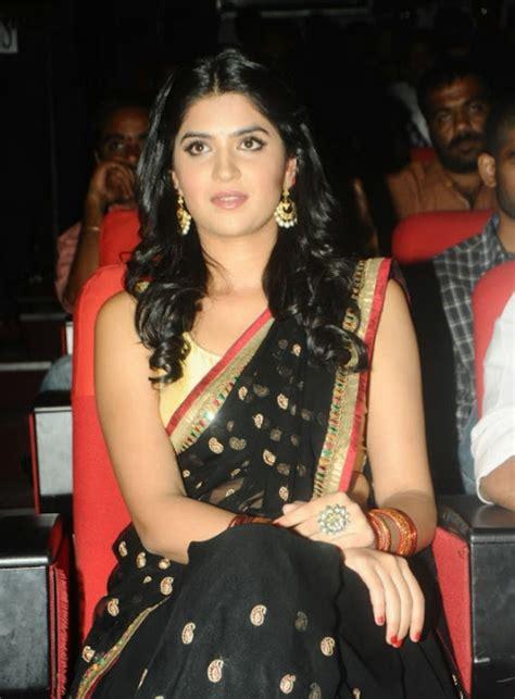 South indian actress Deeksha Seth real life saree in saree