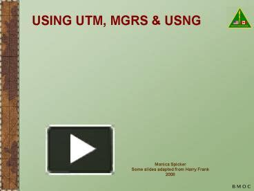 ppt using utm mgrs powerpoint presentation free to