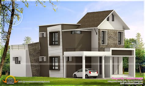 260 Square Yard House Exterior Kerala Home Design And House Plans For Small Yards