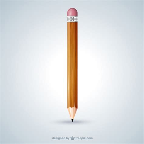 pencil images wooden pencil vector free