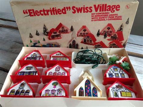 vintage mini christmas lights vintage electrified swiss village 1960s christmas decor