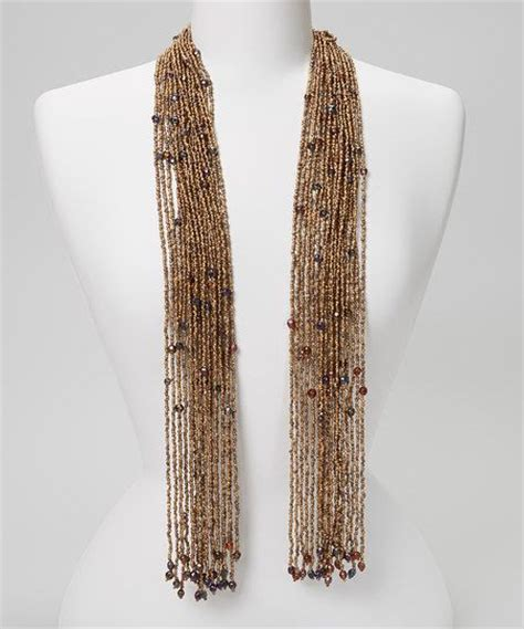 beaded scarf brown beaded scarf necklace