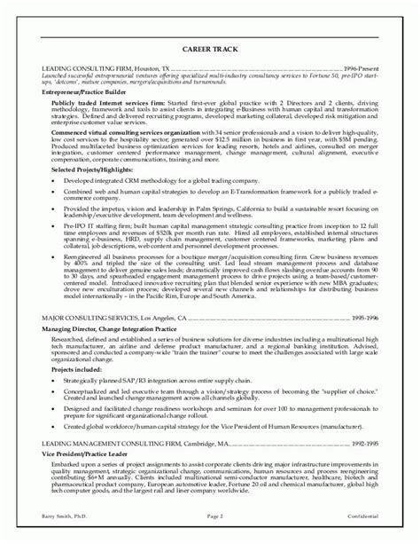 executive resume templates word 12 executive resume sles recentresumes