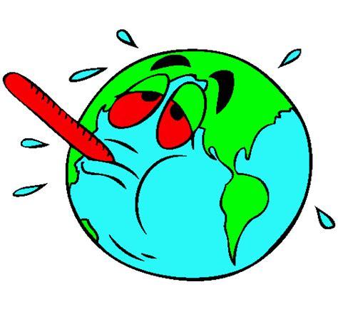 imagenes recursos naturales para colorear dibujo de calentamiento global pintado por calentamiento