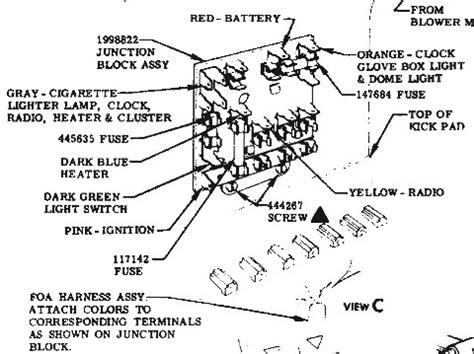 1957 chevy bel air fuse box diagram 1957 free engine