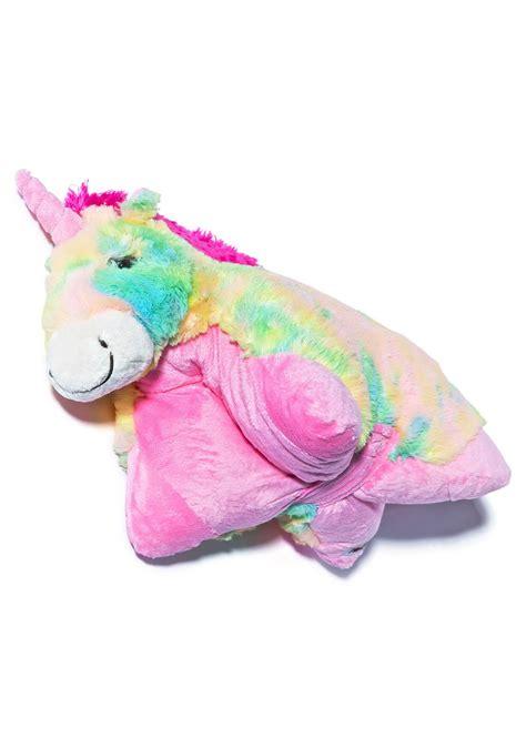Unicorn Pillow by Pillow Pets Rainbow Unicorn Pillow Dolls Kill