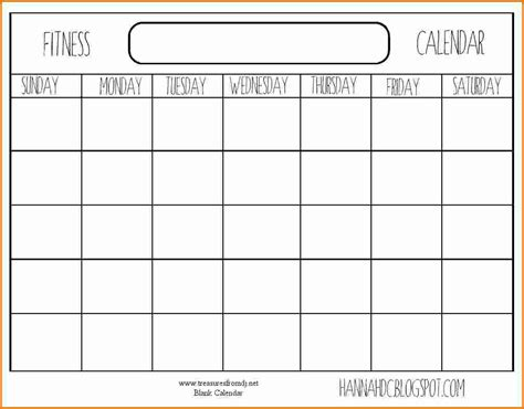 8 Blank Workout Calendar Divorce Document Workout Calendar Template