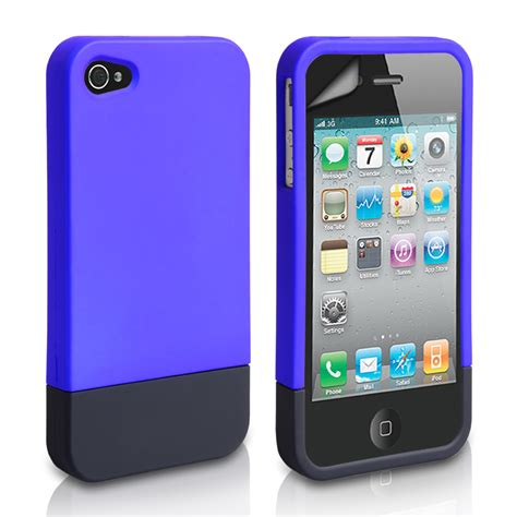 Hardcase 4 4s Blue yousave iphone 4 4s two part blue mobile mad