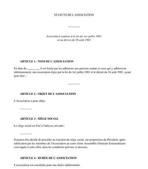 exemple de statuts d association mod 232 le de statuts type