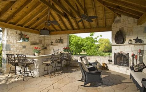 Outdoor Kitchen With Fireplace by Southwest Fence Outdoor Kitchen Fireplace And Seating
