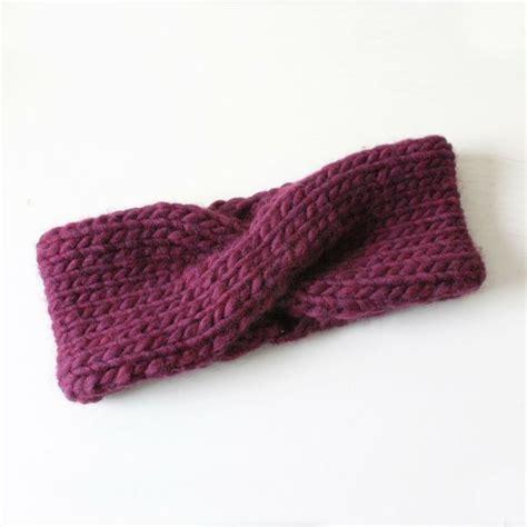 knit headband pattern turban headband knitting galore